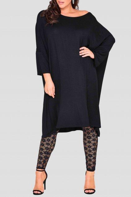 Dámské šaty Soul Free s netopýřími rukávy černé 3