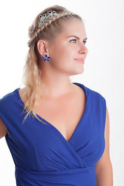 Dlouhé společenské šaty Barbara královská modrá 7