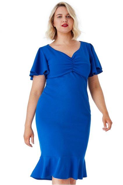 Krásné šaty Klementina královská modrá 1