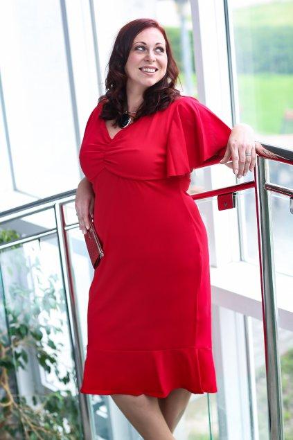 Krásné šaty Klementina červená 5