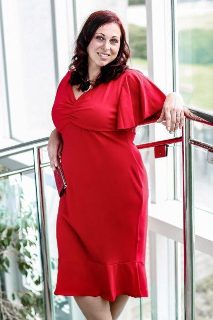 Krásné šaty Klementina červená 6