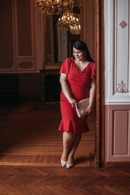 Krásné šaty Klementina červená 7