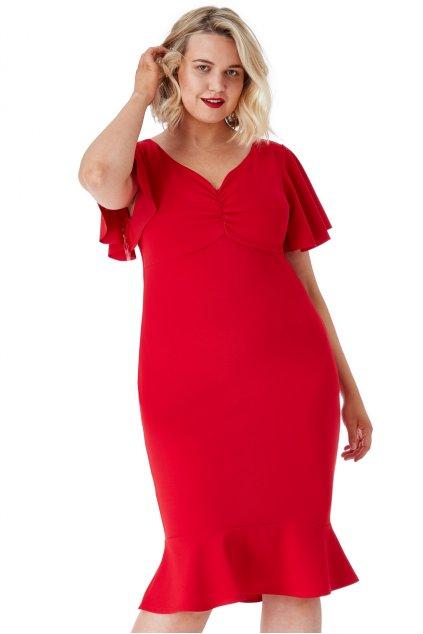 Krásné šaty Klementina červená 1