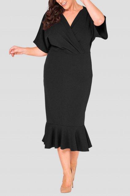 Dámská šaty Jaded s širokými rukávy černé 1