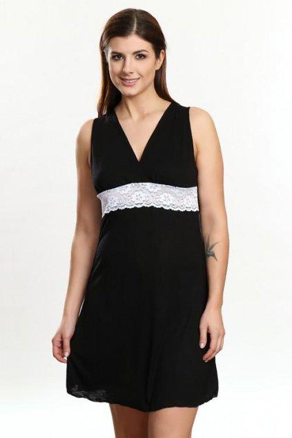 Noční košilka Marina černo bílá