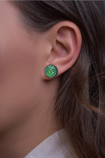 Náušnice Green Dragon eye (zelené dračí oko) 2