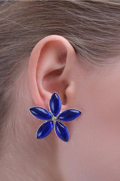 Náušnice Lotus blue flower 2