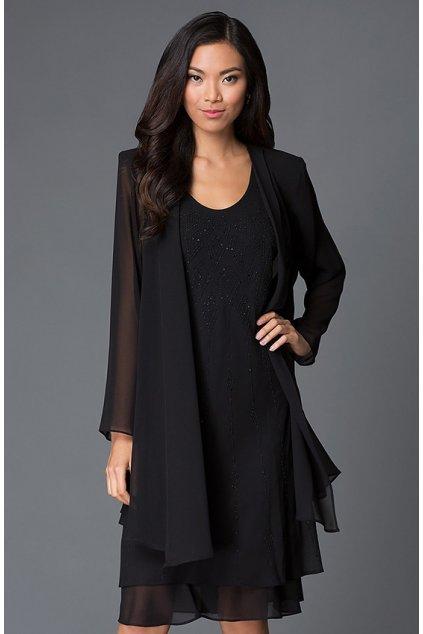 Krásné společenské šaty Lady Emilly s kabátkem černé 3