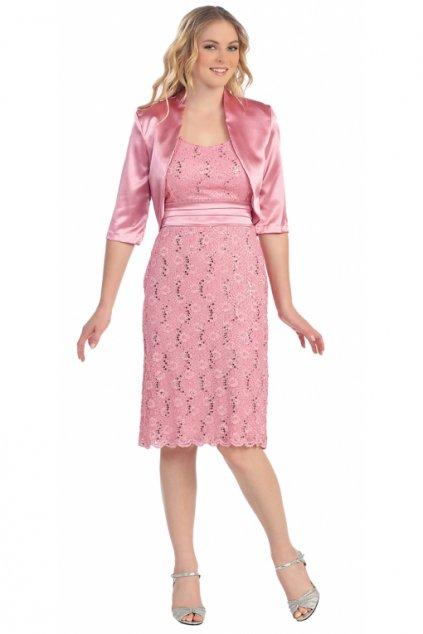 Pozdrové krajkové šaty Satena s bolerkem 1