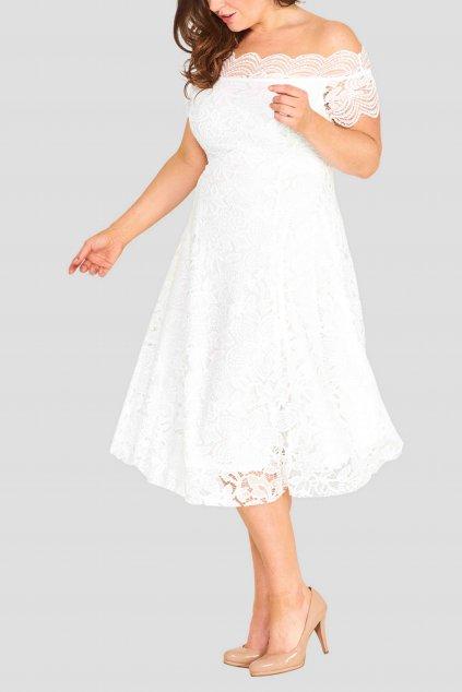 Krajkové šaty Avant Garde s rozšřířenou sukní ivory 5