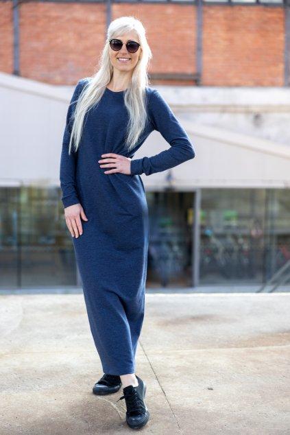 Maxi šaty jeans 1