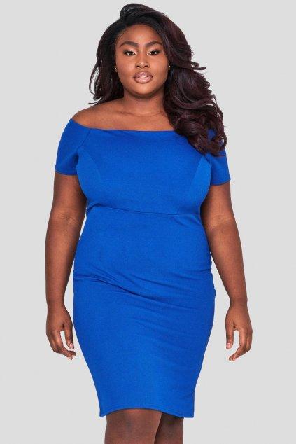 Krásné šaty Paramour královská modrá 1