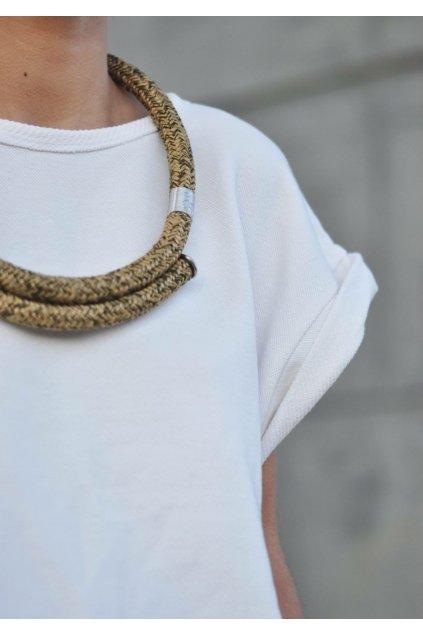 Kruhový náhrdelník khaki 1