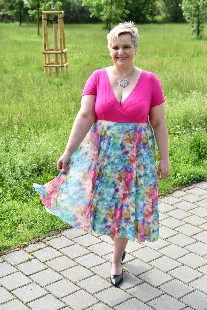 Letní šaty Emily Bellazu s tylovou květinovou sukní 5