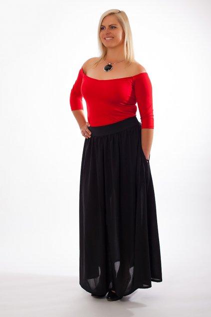 Dlouhá černá sukně Chloe Bellazu s kapsami 6