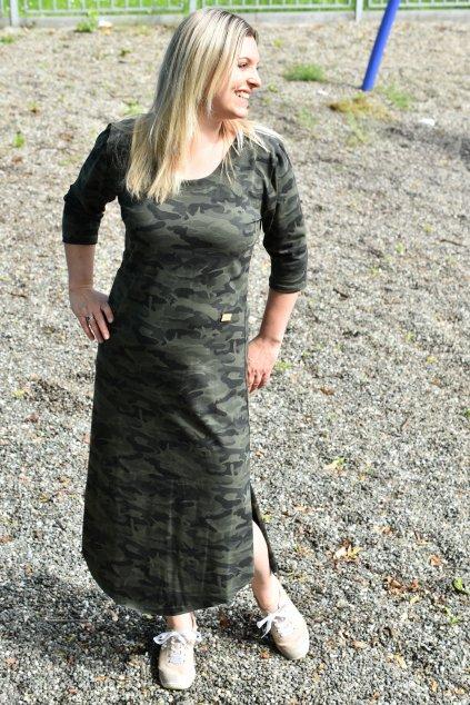 Dámské maskáčové letní šaty s třičtvtečním rukávem 4