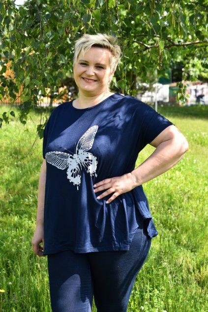 Tmavě modrá tunika Butterfly 1