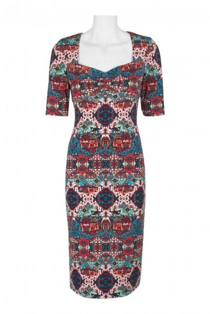 Letní barevné vzorované šaty Ellie 1
