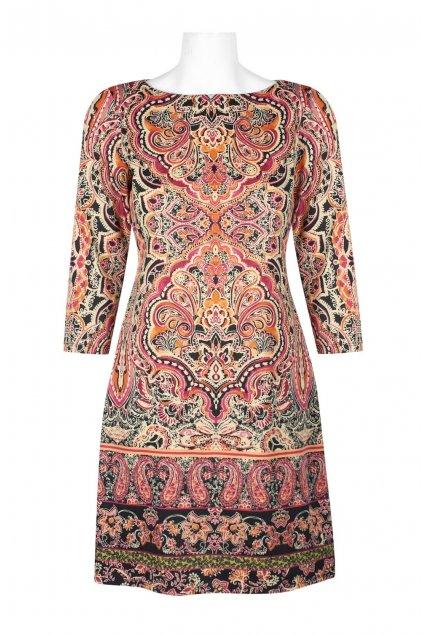 Letní barevné šaty Coral Flower 1