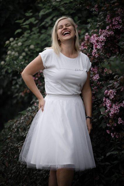 Tylová sukně Abagail Bellazu bílá 18