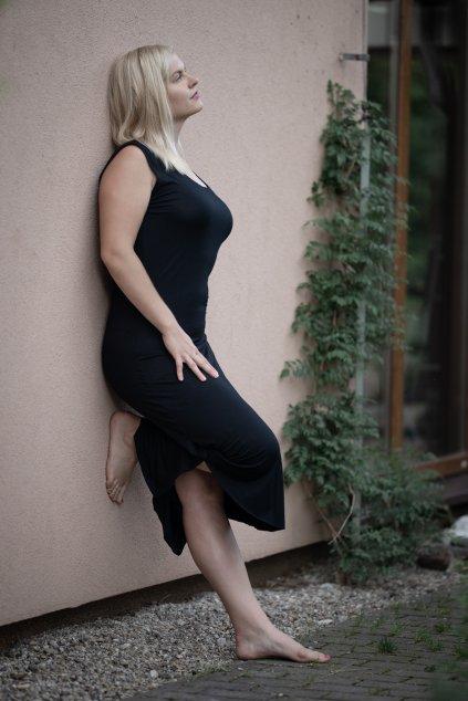 Dámské černé letní šaty 2