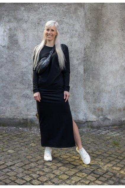 Maxi šaty černé