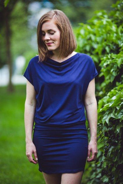 Šaty Rosmarina tmavě modré 3