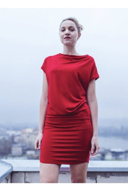 Šaty Rosmarina červené 3