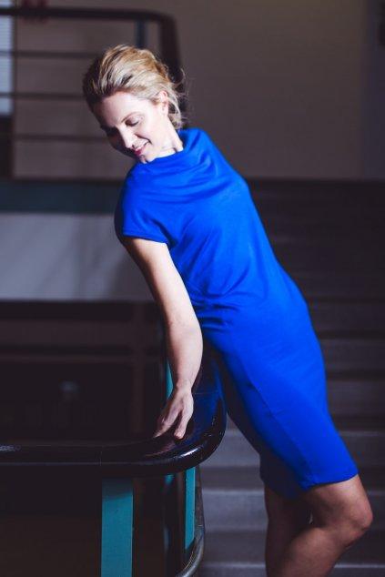 Šaty Rosmarina královská modrá 5