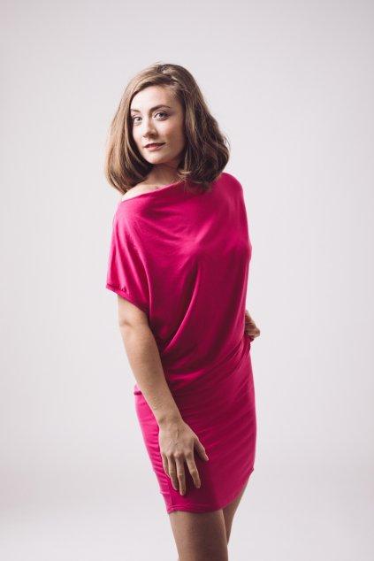 Šaty Rosmarina růžové 3