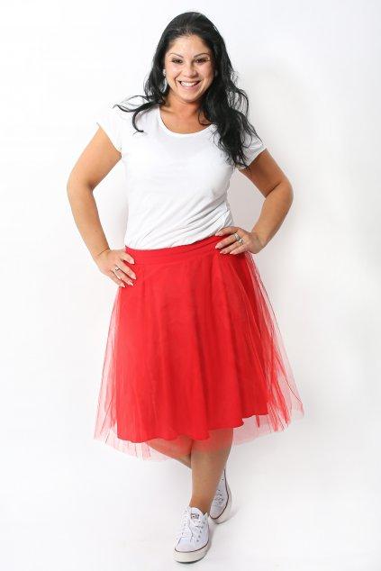 Tylová sukně Abagail Bellazu červená 2