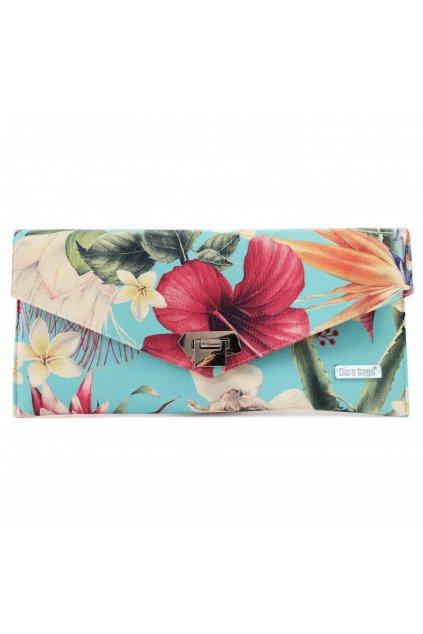 Květinová kabelka Malibu Classy tyrkysová 1