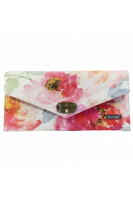 Pestrobarevná květinová kabelka Malibu Classy růžová 1