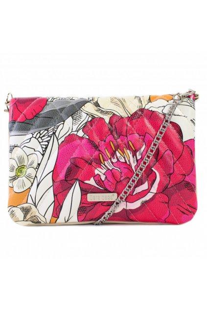 Květinová malá kabelka Cocktail Chic Dara bags růžová 1