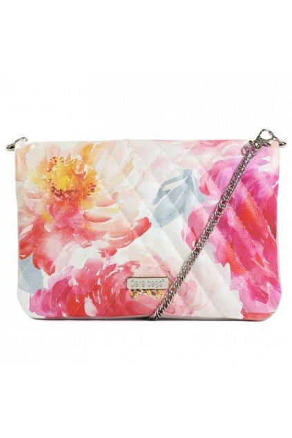 Květinová malá kabelka Cocktail Chic Dara bags růžovožlutá 1