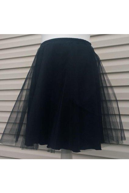 tylová sukně černá krátká
