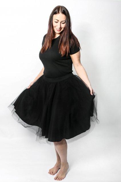 Tylová sukně Abagail Bellazu černá 3