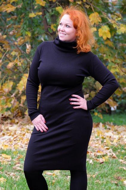 Dámské šaty s rolákem černé 7