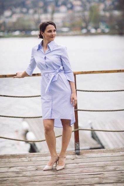 Košilové šaty Chamomilla světle modré 2
