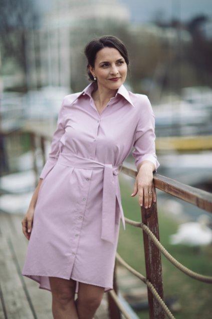 Košilové šaty Chamomilla pudrově růžové 2