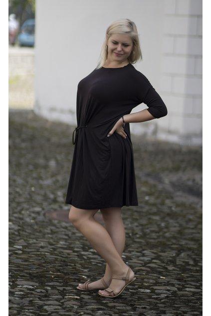 Oversize šaty Tereza Bellazu hnědé 5