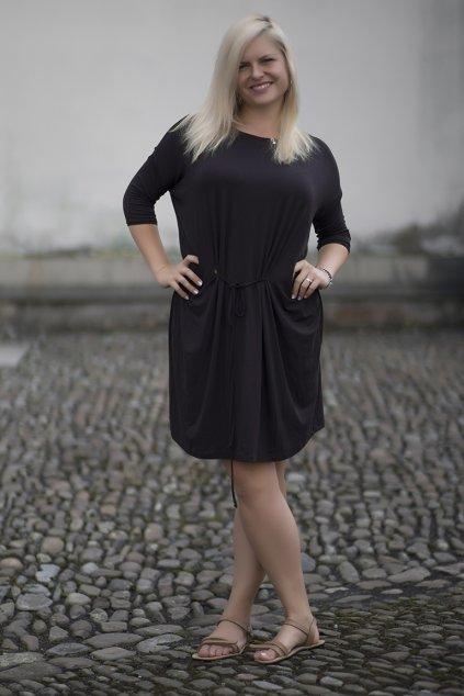 Oversize šaty Tereza Bellazu hnědé 1