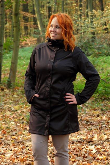 Dámský softshellový kabát černý 8