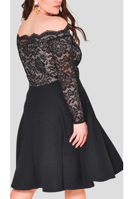 Dámské krajkové šaty Kilby s kapsami černé 2