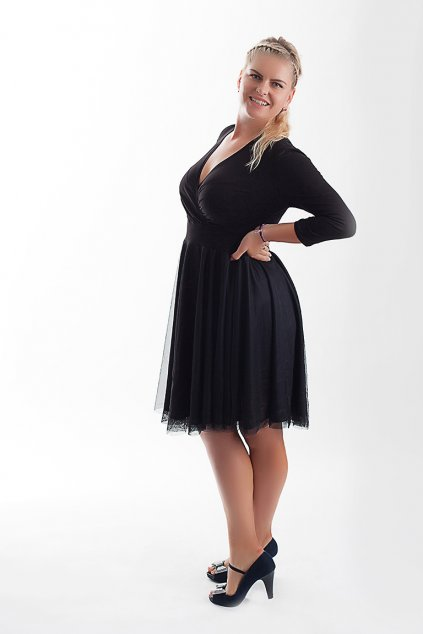 Splečenské šaty Charlotta s jemnou splývavou sukní 3