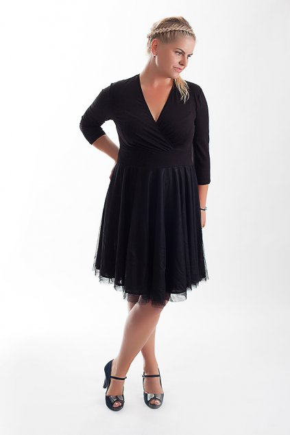 Splečenské šaty Charlotta s jemnou splývavou sukní 4