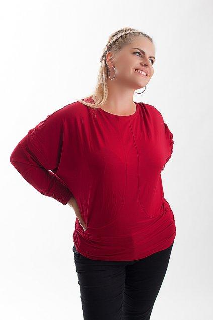 Červená halenka Sandra s netopýřími rukávy 6