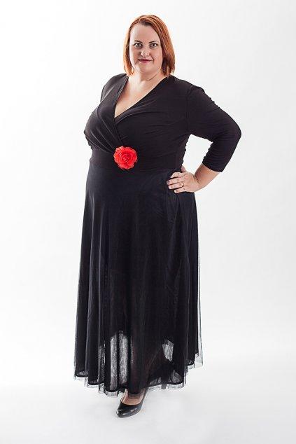 Dlouhé splečenské šaty Charlotta Bellazu s jemnou splývavou sukní v různých barvách