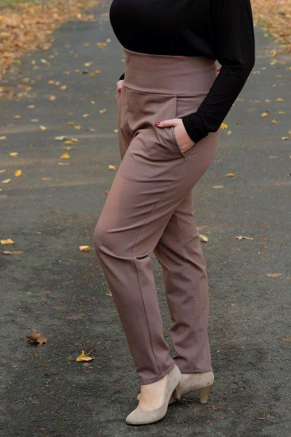 Kalhoty Ela Bellazu s rozšířeným pasem v různých barvách 10