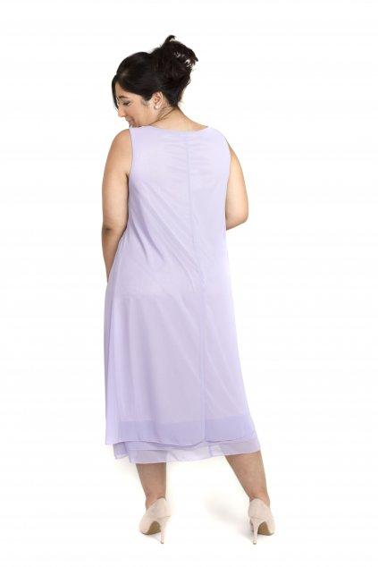 Krásné společenské šaty Lady Emilly s kabátkem fialové
